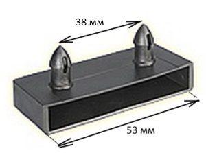 Латодержатель боковой 2-х штырьковый под ламель шириной 50-53 мм